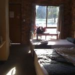 Warming winter sun coming into room