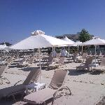 privat beach with service