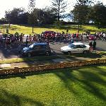  Watching the Gold Coast Marathon from the balcony of unit 4.