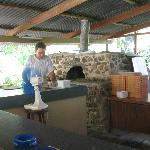Mr. Daniel and the brick oven