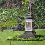 View from dining room of Robert Burns and Rob Roy statues