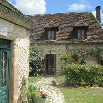 This is the entrance to the gites, with Petite Rose on left. Wisteria House is around corner on