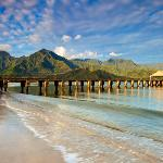  hanalei pier winter morning