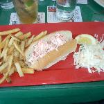 A rather skimpy lobster roll at $21.99.