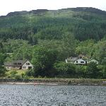 Lomond View Country House from the Loch