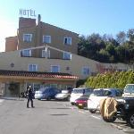 View of hotel from front