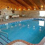 Enjoy our warm accommodations including our large indoor swimming pool and hot tub!