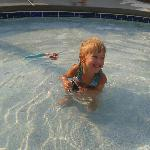  having a blast in the pool