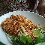 yummy phad thai with shrimps..