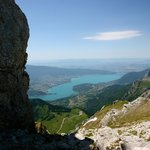Lake Annecy below