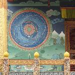 Mandala painting on porch of main sanctuary