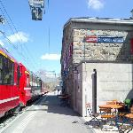 train station - Bernina Glacier Express