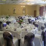 Main function room for wedding reception, parties, discos