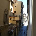 View towards piazza from Masaccio room