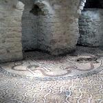 "Restored ""Mosaic of Timoteo"" from early Christian Basilica on the site of the Cathedral"