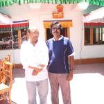 my dad with manager