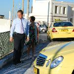 Mr Spyros and his taxi