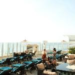 The 10th floor lounge and sundeck at Oceanaire offers breathtaking views and a place to unwind.