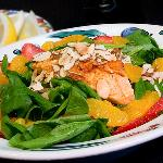 Strawberries Wild Salmon Salad