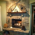 This fire was so cozy the night we checked in. It was rainy and cold.