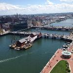 View of ships from nearby Atlantic Wharf Bldg (470 Atlantic Ave) FREE Obs. Deck-Bring ID though