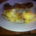 Salmon Benedict with Potato Pancake
