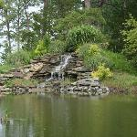  The waterfall built from the ground up by innkeeper Mark.