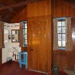 Inside of cabin-rustic but clean and comfortable