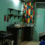  Rm 419 view of kitchen facilities in room