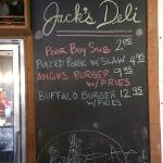  Check the chalkboard for specials