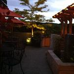  the patio in the late evening