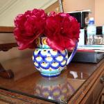  Peonies in our room at Easter Kincaple