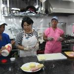 Staff and Yovana (owner) Preparing Breakfast