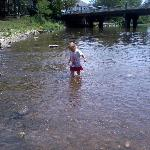 playing in the water