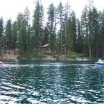  View of cabins from the lake