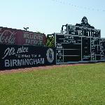 Scoreboard and vintage signs