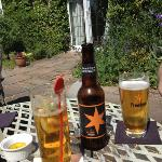 local ale and pimms while we waited on the patio for lunch