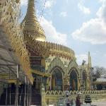  The right hand side of the Kaba Aye Paya with one of the exterior &#39;caves/porches&#39;