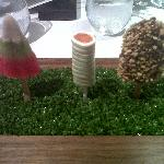 Savory lollies, salmon wrapped in horseradish avo cream and the best ever foie gras