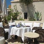 Roof terrace and yummy food
