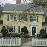  The white picket fence in front makes this house so New England. How quaint. Very pretty grounds