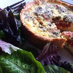 Oven Dried Tomato and Fontina Quiche with Spring Salad