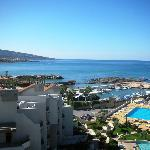 A view of Batroun beach from the balcony