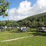 View of campsite from Toilet area.