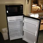 fridge and microwave