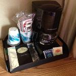 nice little coffee/tea tray in the room