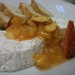 Warm Brie, Local Peach Preserves, Spiced Almonds, Toast Points