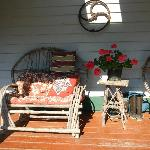 the sun porch beside the entry