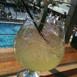  Margarita on the deck overlooking the pool