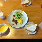 nutritious breakfast at Pension Yamasan
